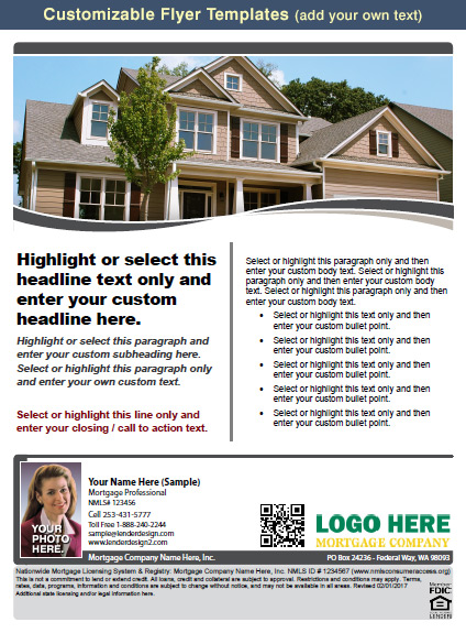 free mortgage flyer templates - mortgage marketing flyers loan officer marketing