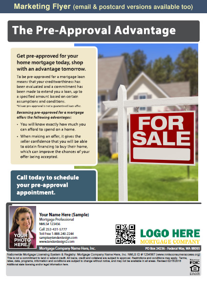 Mortgage Marketing Flyers, Loan Officer Marketing, Mortgage Flyers